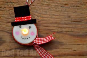 tea light snowman ornament red ted art s blog