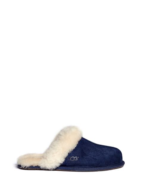 blue ugg slippers ugg scuffette ii slippers in blue blue and green lyst