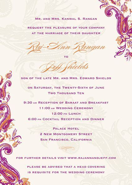 muslim wedding invitation wording in hindu 19 best images about thank you cards on card