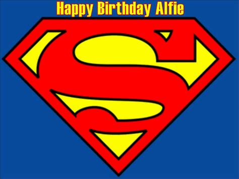a4 superman logo edible icing or wafer birthday cake top