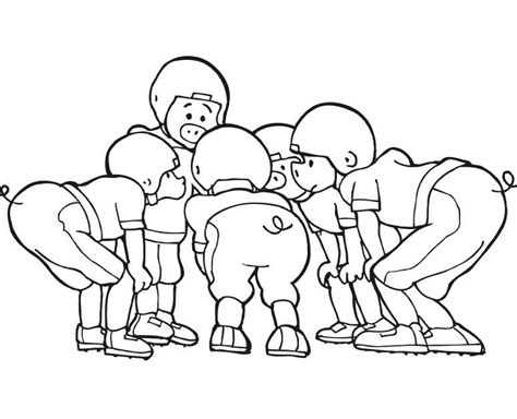 football coloring page pdf football players are planning strategies coloring pages