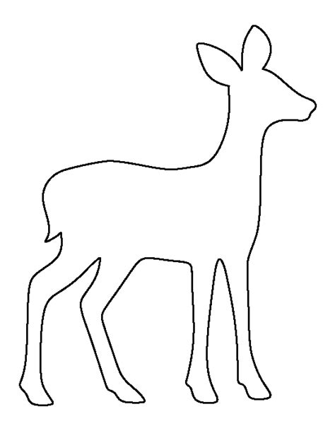 printable stencils deer fawn pattern use the printable outline for crafts