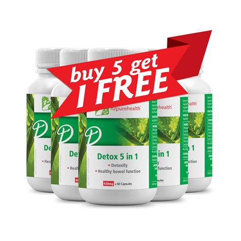 Detox Free by Detox 5 In 1 Buy 5 Get 1 Free