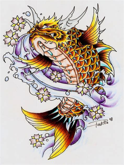 japanese tattoo koi dragon koi dragon ii by eltri on deviantart