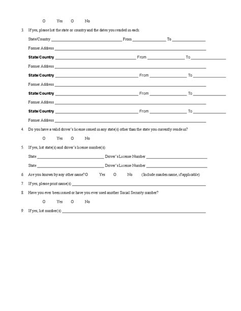 Employee Background Check Free Background Check For Employment Form