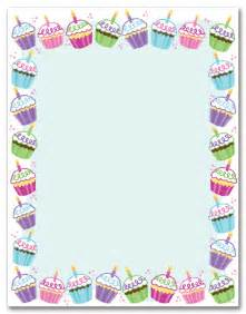 Birthday Stationery Templates Free by Cupcakes Stationery Letterhead Myexpression 16741