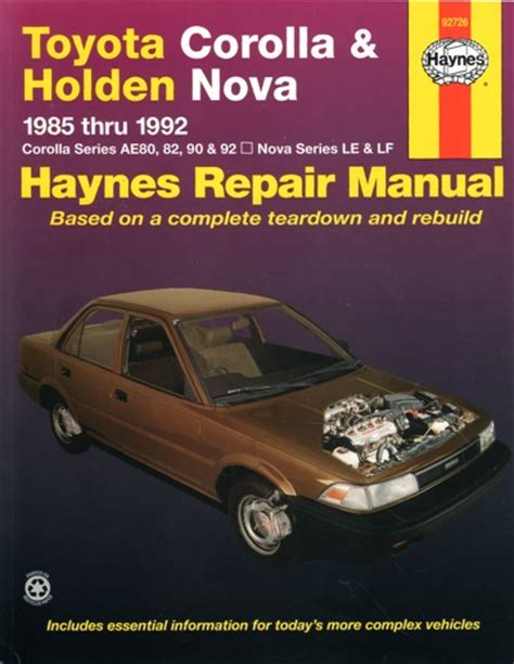 books on how cars work 1992 toyota corolla electronic toll collection toyota corolla holden nova 1985 1992 haynes service repair manual workshop car manuals repair