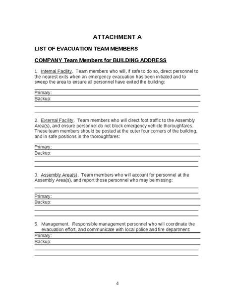 emergency action plan template hashdoc