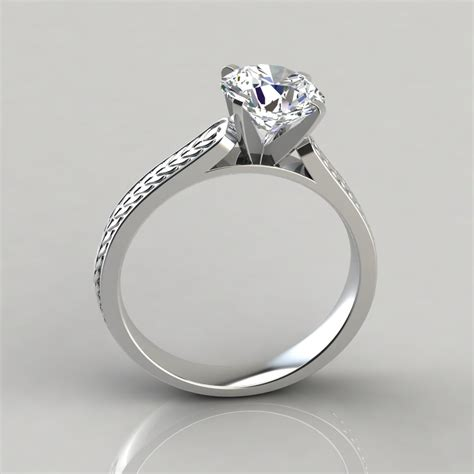 styles of vintage engagement rings vintage style engraved solitaire engagement ring