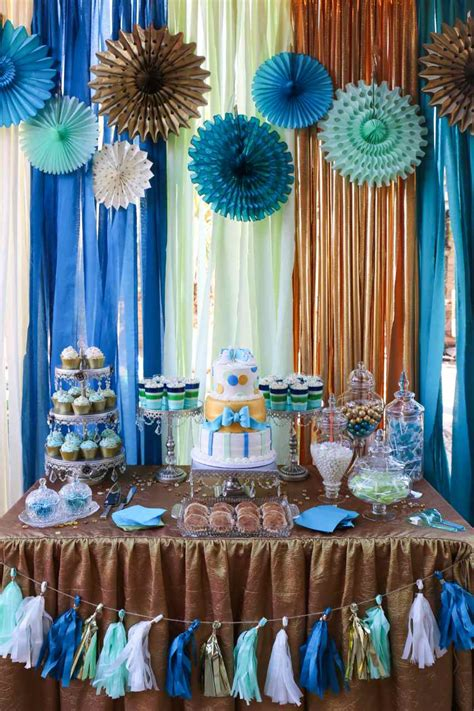 boy baby shower colors boy baby shower gold teal mint theme colors 001
