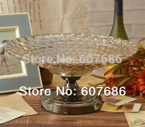 Thinking About Fruits Tin Glasses 1 vintage large glass fruit bowl basket with metal pedestal fruit serving home hotel restaurant