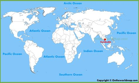 cambodia in the world map cambodia location on the world map