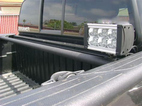 tacoma bed lights led amber light hi lift mount rear bed chase bar