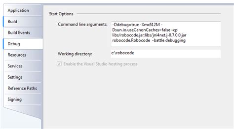 reset visual studio settings command line robocode net debug a net robot in visual studio robowiki