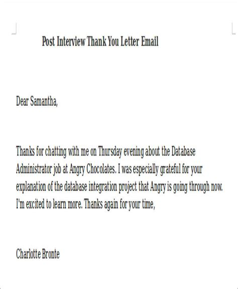 post thank you letter 7 sle post thank you letters free sle