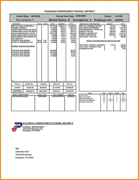Employment Letter Pay Stub employee pay stub template sle templates sle