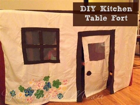 kitchen table fort for kids maggie may s diy dining table playhouse fort you pinspire me