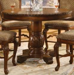 Chateau de ville round counter height pedestal table acme furniture