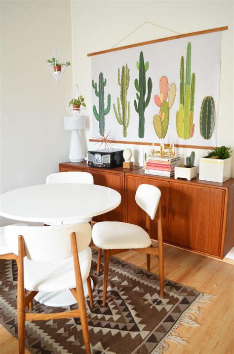 kohlen dining room make it boho diy kaktus wandtafel