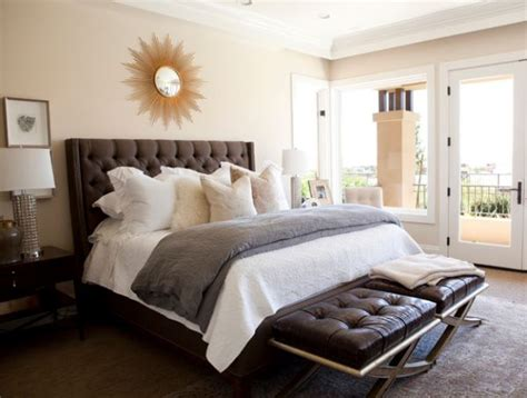 bedroom with tufted headboard traditional bedroom design with tufted headboard and