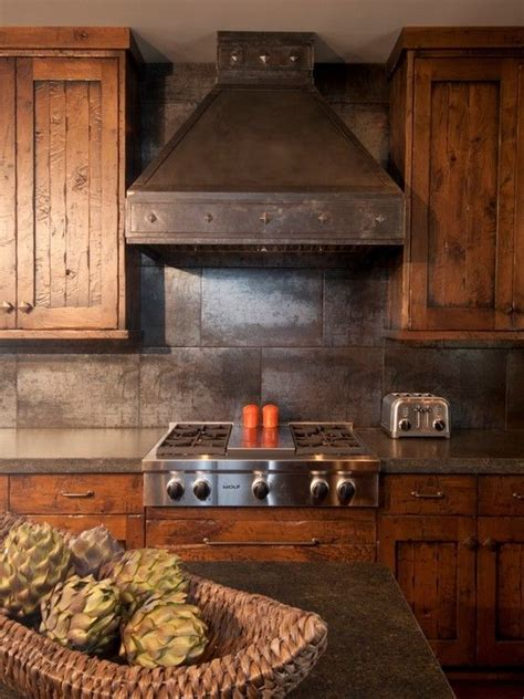 Rustic Cabin Kitchen Decor by Traditional Kitchen Log Cabin Decorating Design Pictures