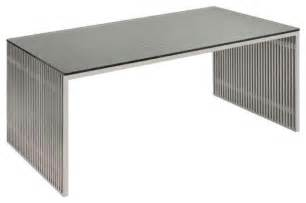 Home Office Desk Miami Amici Modern Desk In Stainless Steel Modern Desks And