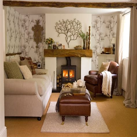 Wallpaper For Living Room by Living Room With Woodland Wallpaper Living Room