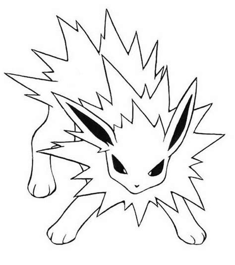 pokemon coloring pages jolteon 65 best colouring pages images on pinterest coloring