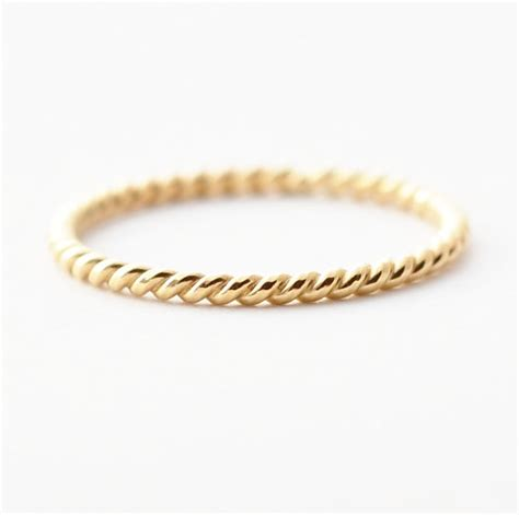 Eheringe Chagner Gold by 18k Gold Ring Braided Wedding Band For