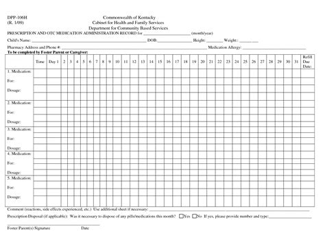 Medication Administration Record Form Sle Templates Resume Exles Bnydwwma2z Record Template