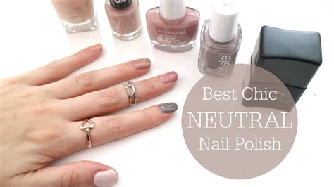 neutral nail colors best chic neutral nail polishes top 5 rachael jade