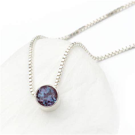 Birthstone Jewelry by Alexandrite Necklace June Birthstone By Lilia Nash