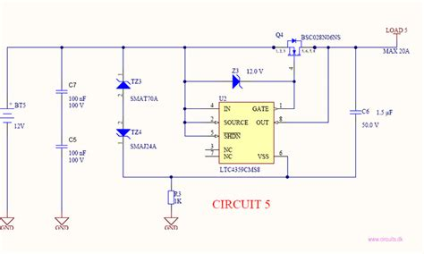 diode for 12v circuit current battery polarity protection circuits
