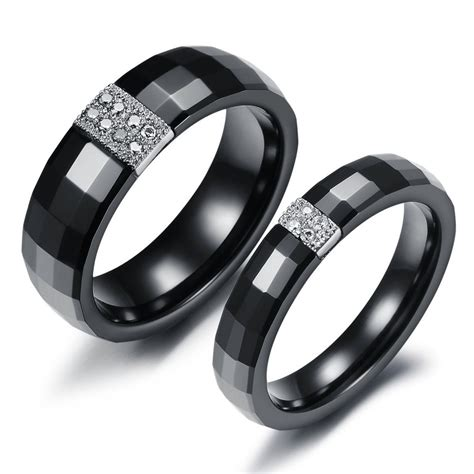 Black Wedding Bands by Fascinating Black Tungsten Wedding Bands Wedding And