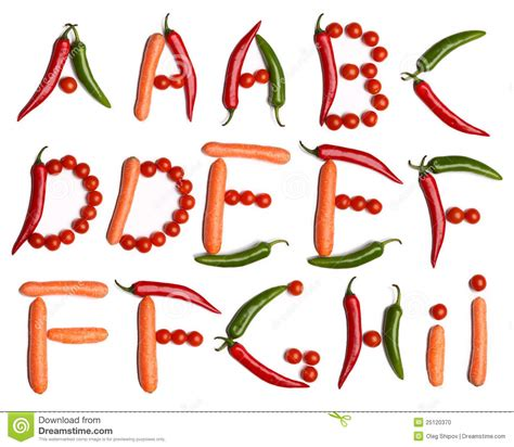 vegetables 3 letters vegetable alphabet stock photo image of food