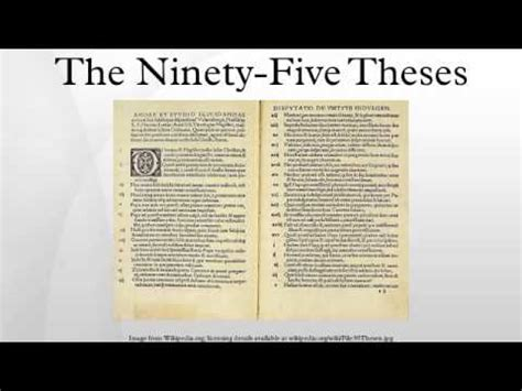 Ninety Five the ninety five theses table talk luther