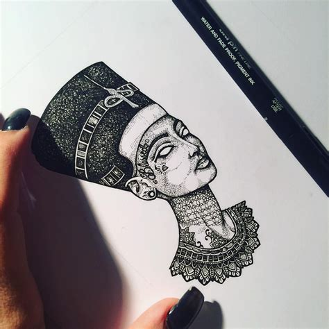 queen isis tattoo my blessed tattooed nefertiti murderandrose tattoos