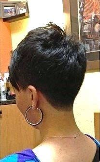 tapered haircut for women back on neck very nice tight tapered quot v quot nape pixie haircut