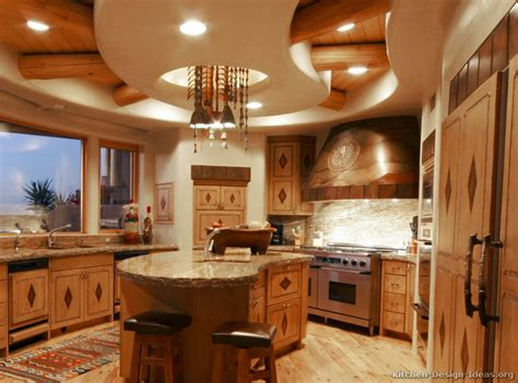 Pine Kitchen Islands rustic kitchen designs pictures and inspiration