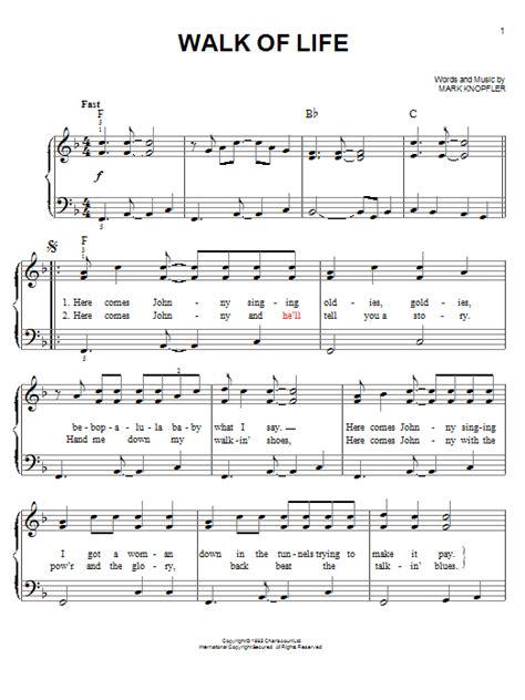 Tutorial Walk Of Life Piano   walk of life sheet music by dire straits easy piano 96916