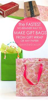gift wrap bag fastest easiest way to make gift bags from any paper