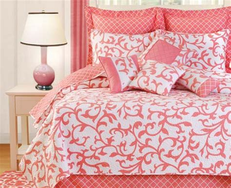 coral bed sets serendipity coral bedding oceanstyles com