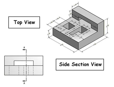 section line in drawing what is the purpose of the section line on this drawing
