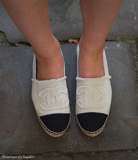 Chanel Espradilles chanel espadrilles with denim shorts raindrops of sapphire