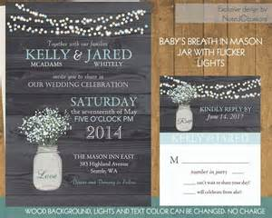 rustic jar wedding invitations rustic by notedoccasions