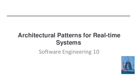 pattern classification real time architectural patterns for real time systems