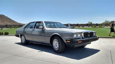 1985 maserati quattroporte 1985 maserati quattroporte barnfind all original low