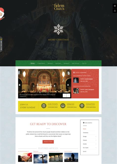 5 of the best church joomla templates down