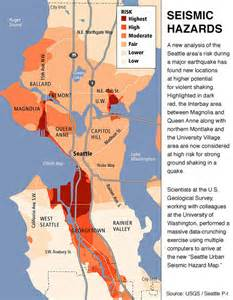 seattle earthquake map earthquake hazard maps sound seismic