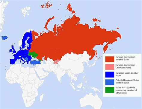 russia map size eurasian union map business insider